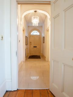 Period hallway bright and spacious with a downstairs cloakroom