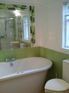 Deep spa bath with heart shaped WC !