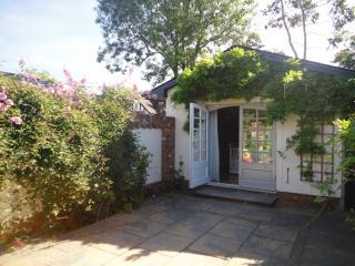 The entrance to the garden studio, through your own private courtyard garden.