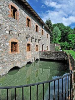 Il molino è attraversato dall'acqua