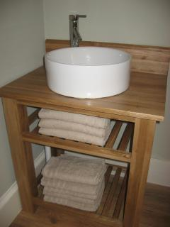 Washstand in main double bedroom