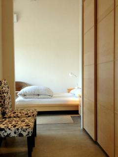 Bedroom with spacious wardrobes