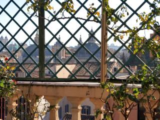 Terrace overlooking the center of Rome
