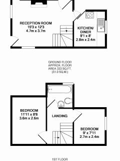 Larch Cottage room layout