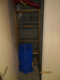 Ski locker cupboard - plenty of room for equipment, sledges, as well as some luggage