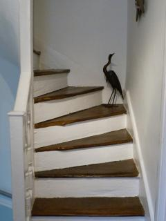 The quirky stairs that go nowhere! Children love them.