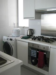 Fully equipped kitchen, includes Gas Hob, Oven, Dishwasher, Fridge-Freezer, microwave, Toaster, Kett