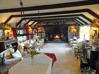 Come and relax in the Old Smiddy Lounge with open inglenook log fire.