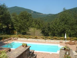 The Pool and beyond to Tuscany