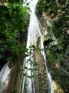 Milonas  waterfall, only a lovely walk away from the studio
