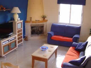 Villa Tocino lounge with mountain views