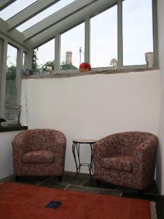 relaxing garden room