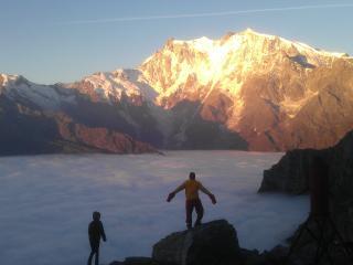 Macugnaga vista Monte Rosa