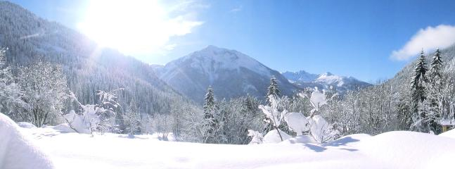 Magical views from front of chalet...