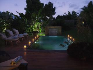 Private Billabong (Pool) at Dusk. Totally Private, Secluded Luxury.