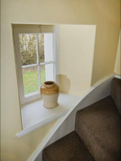 Staircase window.
