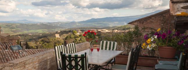 Terrace view southwards towards Monte Amiata