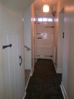 Downstairs hallway - newly painted. Useful cloakroom/WC on ground floor