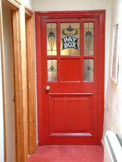 The old cinema door that leads into the lounge!