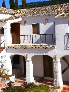 One of the many balconys and shaded areas around the Cortijo
