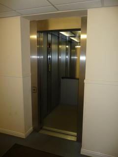 Lift from secure car park to ground floor apartment
