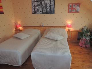 2éme chambre, 2 lits à 1 pers.