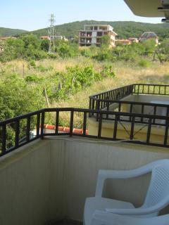 Balcony view hillside