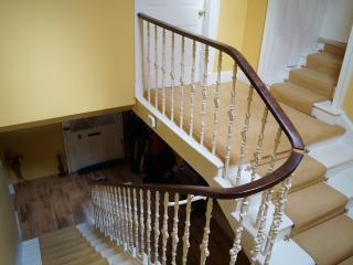 Upstairs showing entrance to two further bedrooms