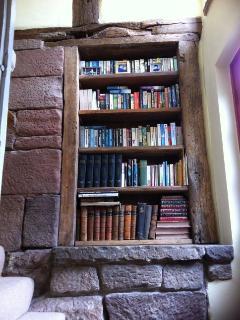 Bookcase in stairway
