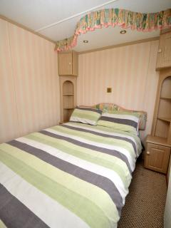 Double bed in main bedroom with freeview tv
