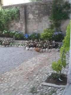 particolare del giardino, lato ovest