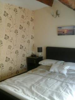 Cosy bedroom with oak beams