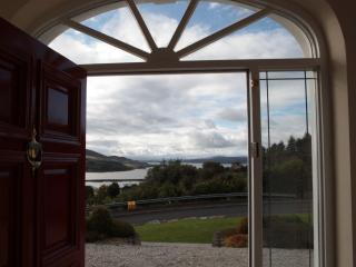 view from front door over lough swilly and marina