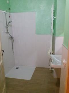Bathroom with wheelchair access