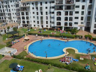 vue piscine et jardin depuis la terasse