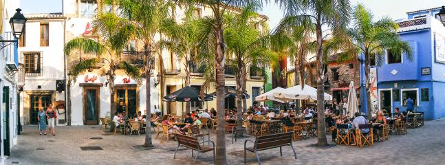 Tranquil area for drinks, dining or just relax in the historic town of Denia, dates back to 16thC