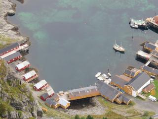 A view of the entire harbour area, cabin is the 2nd to the left