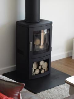 Wood burner for cosy winter visits