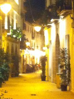 Javea town by night