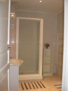 Shower room/wc adjacent to blue room