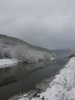 The Wye River in winter