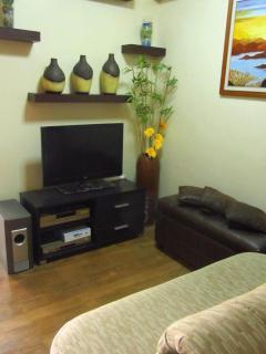32' cabled TV at Living Area