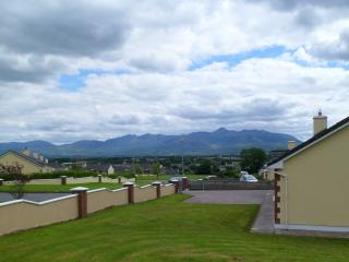View from front garden --- Ireland's highest mountain range ( 1040 meters high )