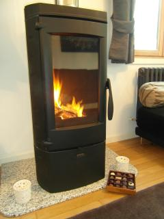 Cosy log burner for winter evenings