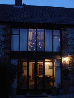 Flintstone Barn at Christmas