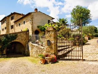 The entrance to Sant?Andrea a  Cellole with ample private parking in front of the gate