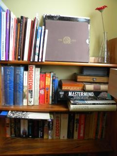 Fiction books, guidebooks, albums, dictionaries, games.