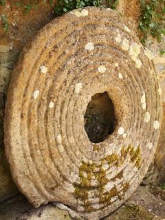Original Watermill grinding stone