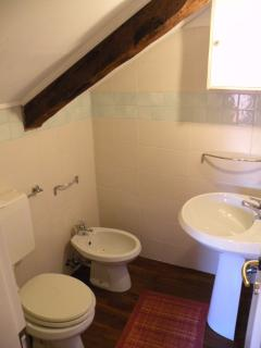 The bathroom in the loft
