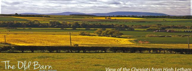 View from The Old Barn of the Cheviot Hills